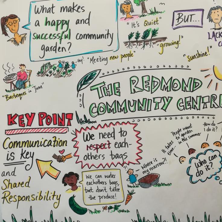 redmond community centre graphic recording