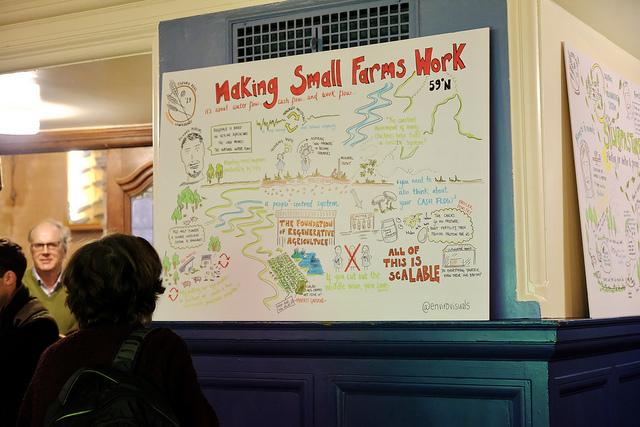 audience looking at graphic recording